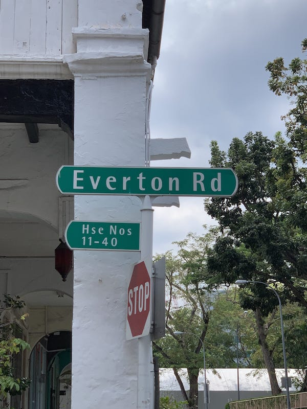 Road Sign of Sky Everton